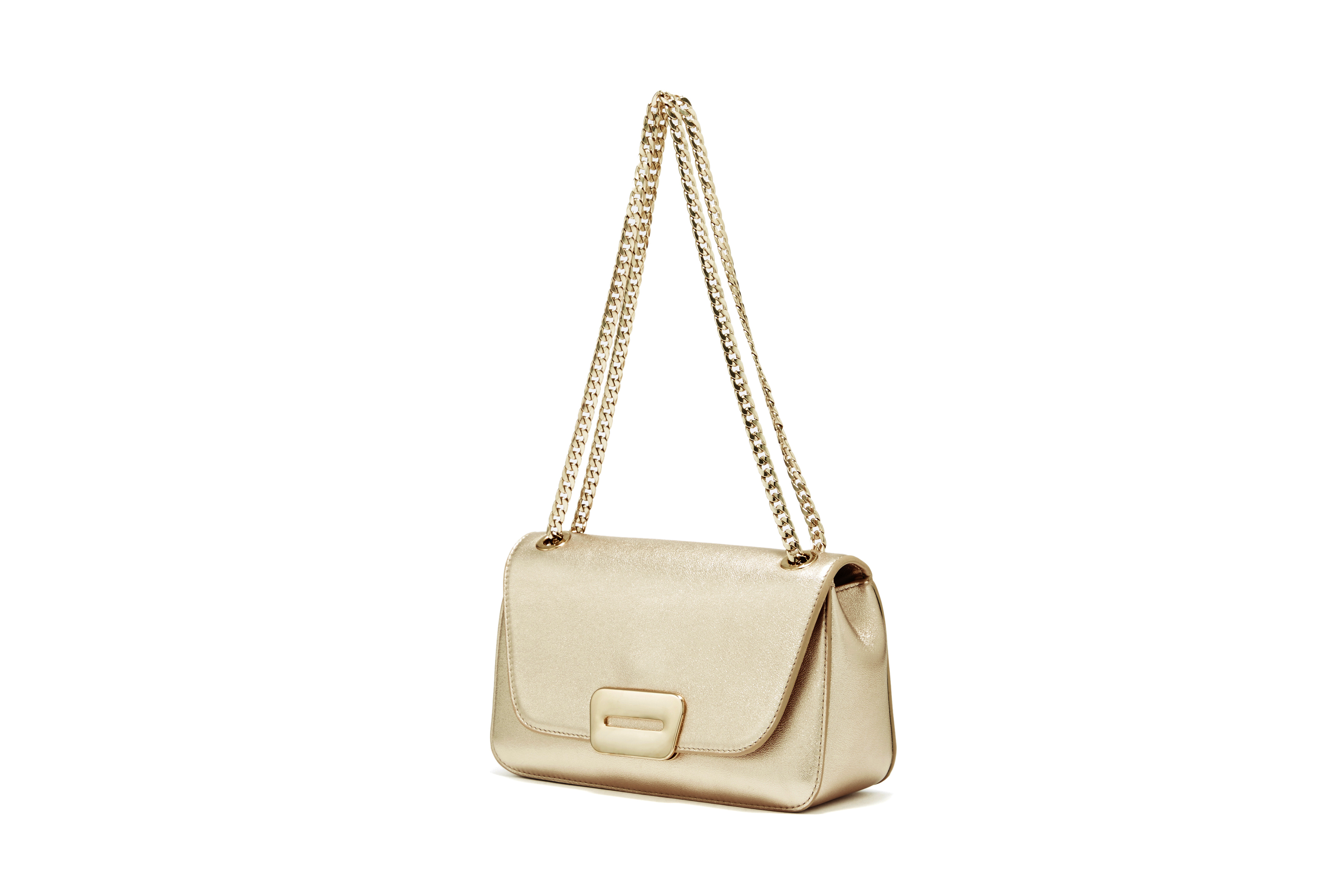 PELLICO BAG PI18-5028 ANELLI FIBIA SHOULDER / GOLD
