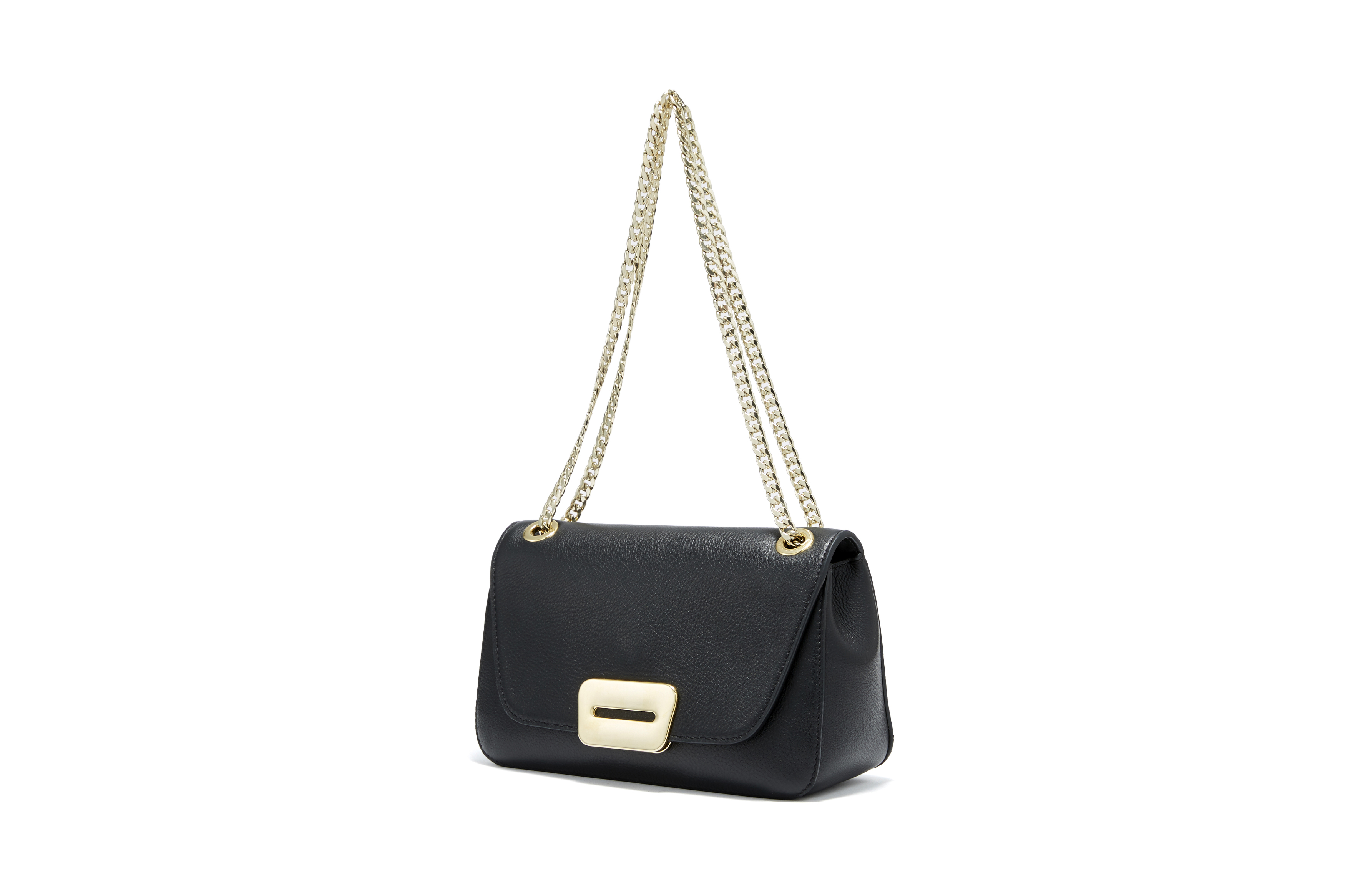 PELLICO BAG PI18-5026 ANELLI FIBIA SHOULDER / BLACK